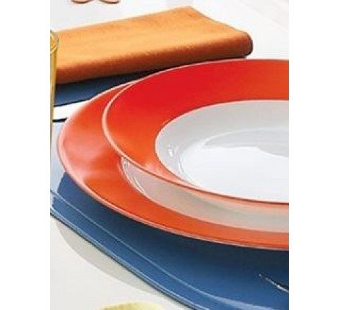 Piatti arc everarty orange 18 pezzi arcopal luminarc
