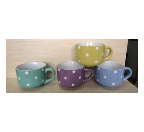1 Tazza Tazzone latte jumbo in ceramica pois beta