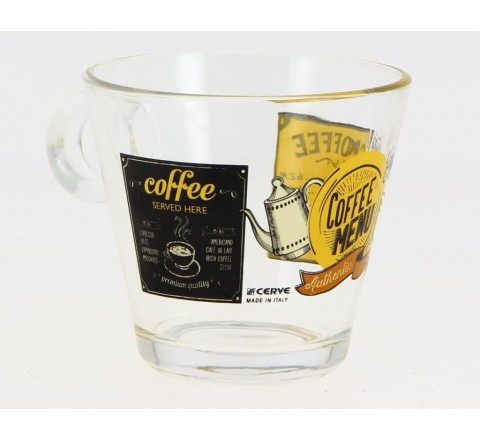 Set 2 Tazzoni Tazze the in vetro nadia italian coffee 280 cc cerve