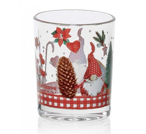 Bicchiere nadia a 6 christmas home 250 cc cerve