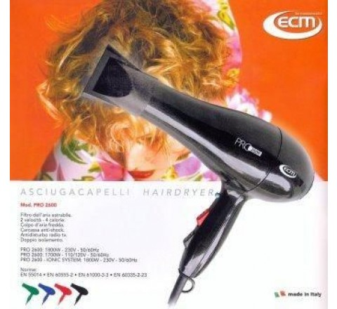 Asciugacapelli professionale pro 2600 made in ital
