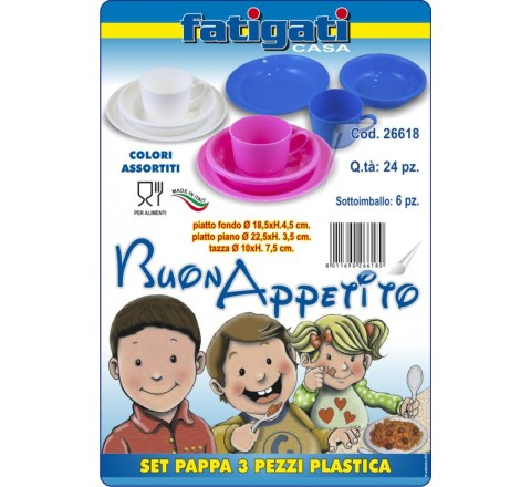 Set pappa color 3 pezzi 26618 fatigati