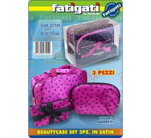 Cestino beauty case pvc 3 pezzi 27145 pois fat
