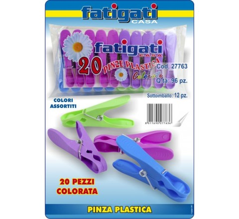 Mollette color 20 pezzi 27763 fatigati