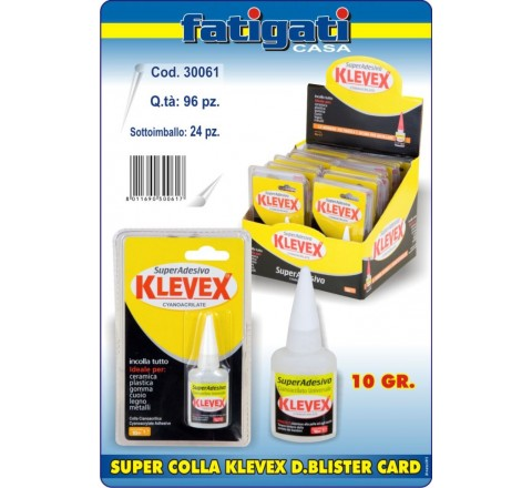 Colla super blister 10gr 30061 klevex