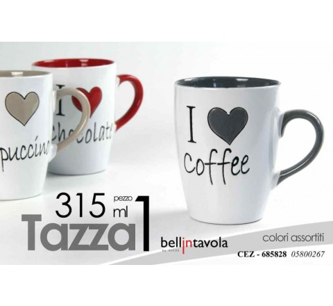 Tazzone latte i love coffee 685828 315 ml gic