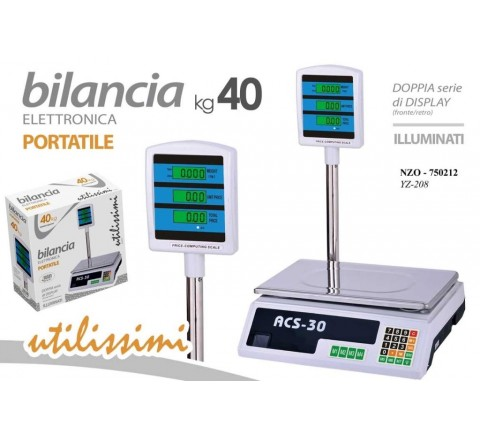 Bilancia pesa pacchi digitale display led 40kg