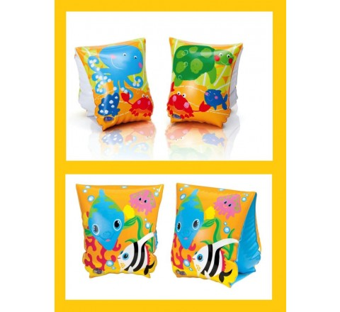 Braccioli gonfiabili fun fish 23 x 15 cm 3 - 6 anni intex 2 Decori