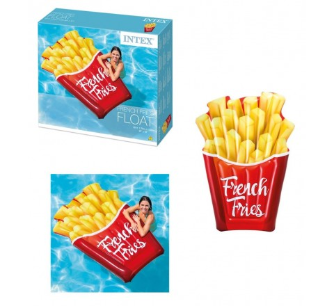 Materassino gonfiabile french fries patatine fritte 175x132 cm intex
