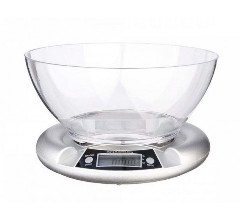 Bilancia cucina digitale abs silver 5kg div.1g eva collection