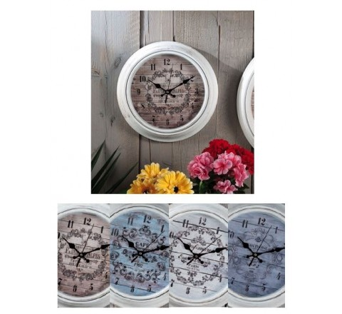 Orologio abs decorato 30cm 46653 ad