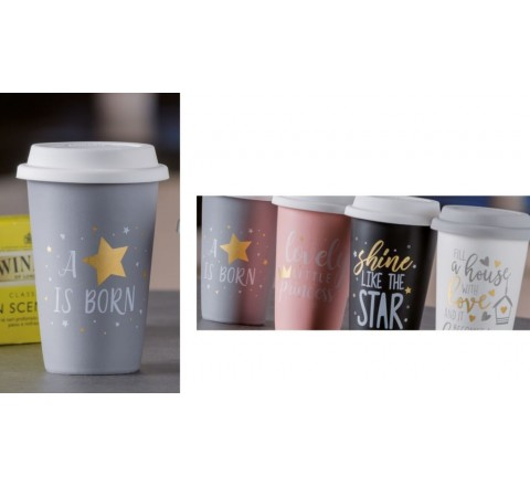 Starbucks Bicchiere star bucks c cop. 10 x 14 new bone china tazzone cappuccino - latte - the' - caffe'