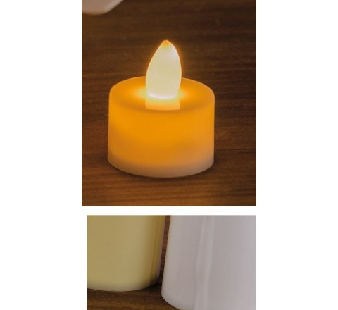 Candela a led tea - light tonda 3 x 3.5 cm 2 Colori
