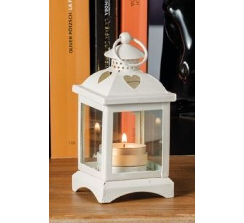 Lanterna in ferro porta tea - light candele amy fer 7 x 7 x 14.5 cm