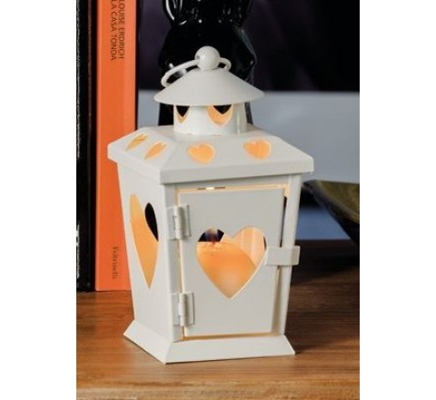 Lanterna in ferro porta tea - light candele amy fer 9 x 9 x 17 cm