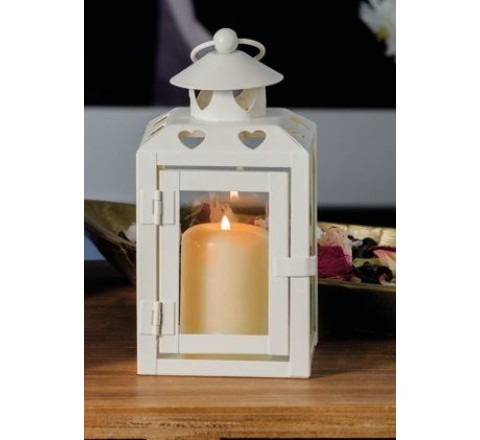 Lanterna in ferro porta tea - light candele amy fer 10 x 10 x 18 cm