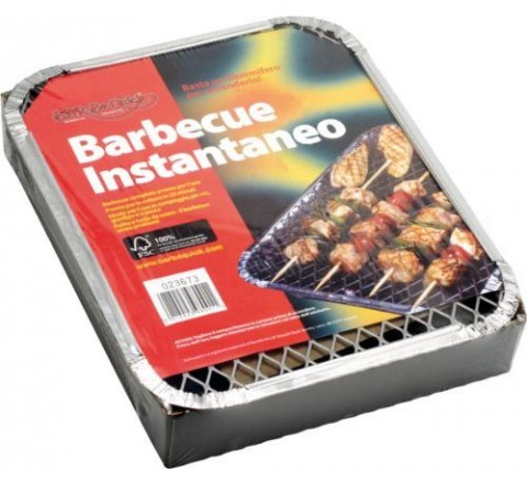 Barbecue usa e getta alluminio 980011 uniflame barbecue istantaneo compreso carbone vegetale
