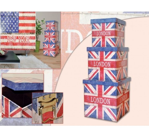 Baule flag london small 26211 84411 miokasa scatola - pouf